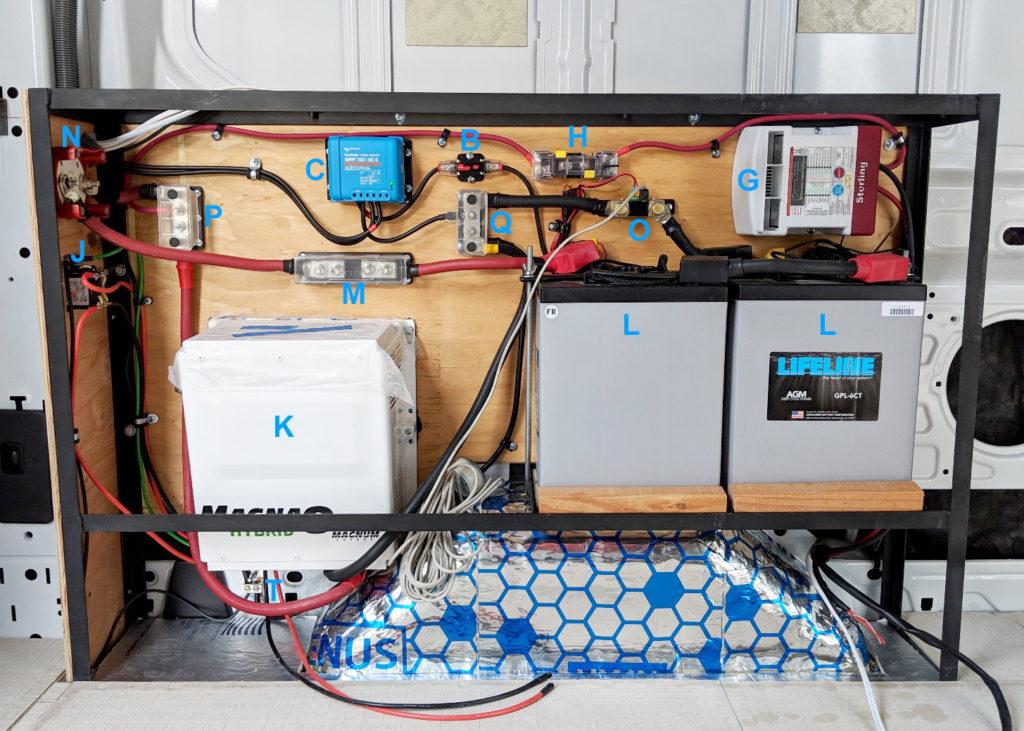 Camper Van Electrical System Physical, Campervan Wiring Diagram