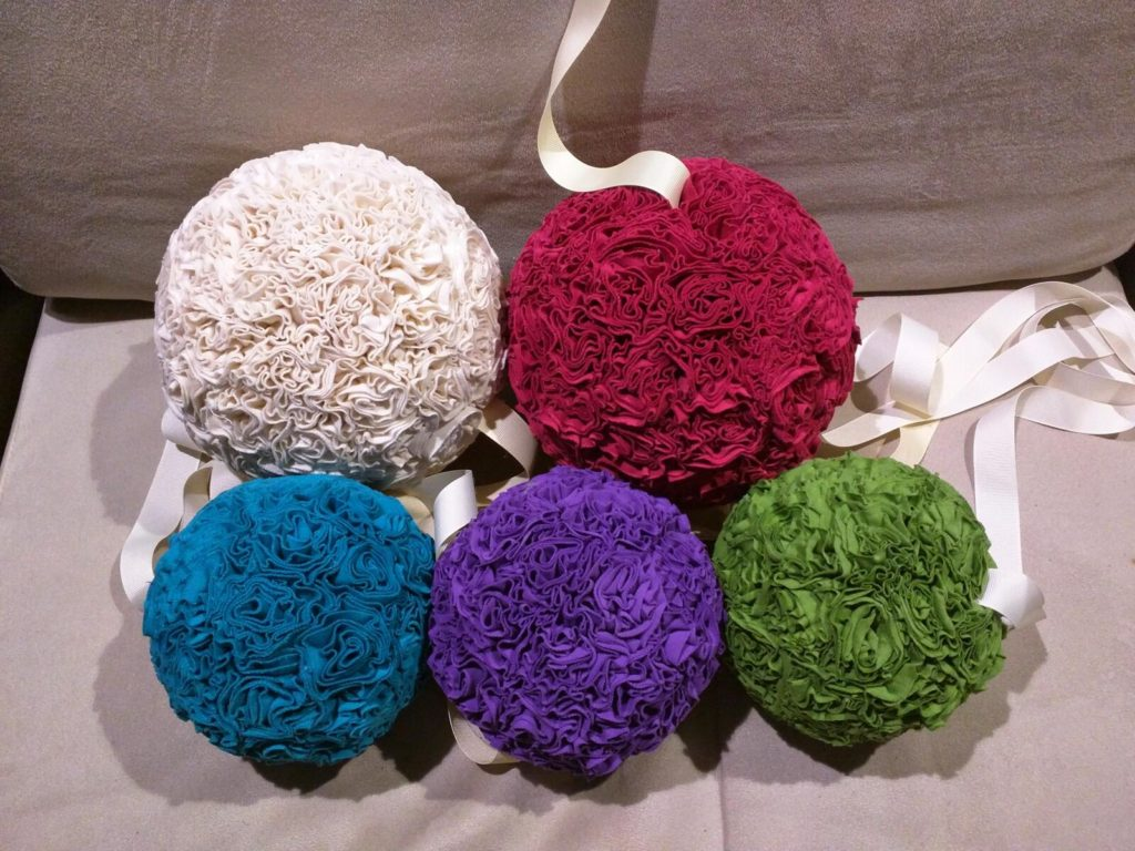 How To Make Decorative Hanging Fabric Balls For Weddings And Events Patchwork Pebbles