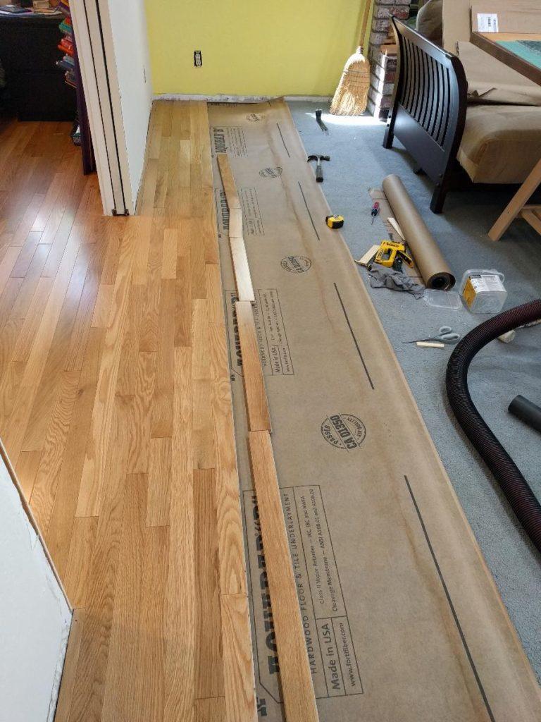 How To Install Hardwood Floor Over